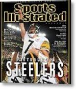Pittsburgh Steelers Qb Ben Roethlisberger, Super Bowl Xliii Sports Illustrated Cover Metal Print