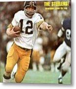 Pittsburgh Steelers Qb Terry Bradshaw, Super Bowl Ix Sports Illustrated Cover Metal Print