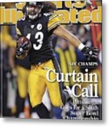 Pittsburgh Steelers Troy Polamalu, 2009 Afc Championship Sports Illustrated Cover Metal Print