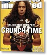 Pittsburgh Steelers Troy Polamalu Sports Illustrated Cover Metal Print