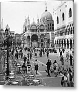 Place, San Marco Place At Venise In Metal Print