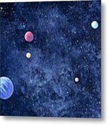Planets In Solar System Metal Print