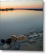 Platte River Sunset 2x1 Panorama Metal Print