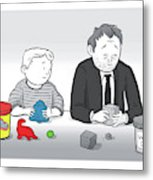 Play Doh Work Doh Metal Print