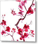 Plum Blossom Painting Metal Print