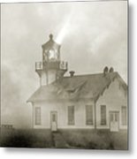 Point Cabrillo Lighthouse California Sepia Metal Print