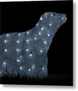 Polar Bear Decoration Metal Print