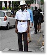Police Officer Metal Print