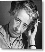 Political Theorist Hannah Arendt Metal Print