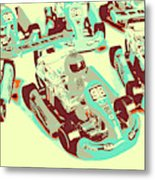 Poll Position Posterized Metal Print