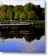 Pond Refletions Metal Print