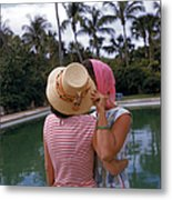 Poolside Secrets Metal Print
