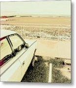 Pop Art Beach Carpark  Metal Print