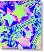 Pop Art Police Metal Print