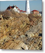Portland Head Light - Cape Elizabeth Maine Metal Print