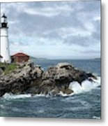 Portland Head Light House Metal Print