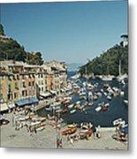 Portofino Harbour Metal Print