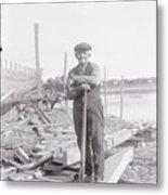 Portrait Of A Shipyard Workman Metal Print