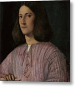 Portrait Of A Young Man Giustiniani Metal Print