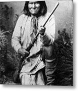 Portrait Of Apache Chief Geronimo Metal Print