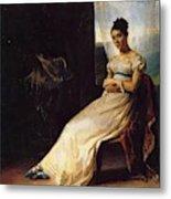 Portrait Of Laura Bro 1820 Metal Print