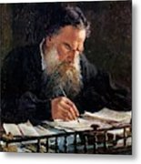 Portrait Of Leo Tolstoy Metal Print