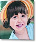 Portrait Of Little Girl. Metal Print