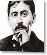 Portrait Of The French Author Marcel Proust Metal Print