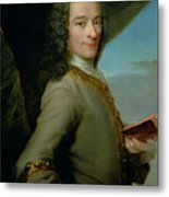 Portrait Of The Young Voltaire  Metal Print