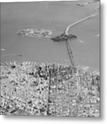 Portrait View Of Downtown San Francisco From Commertial Airplane Metal Print