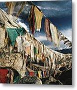 Prayer Flags Above Leh, Ladakh, Leh Metal Print