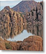Prescott Arizona Watson Lake Hill Rcoks Water Sky Clouds 3 122019 4865 Metal Print