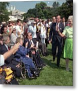 President George Bush And First Lady Metal Print