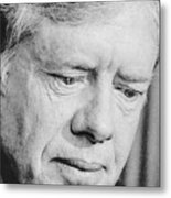 President Jimmy Carter Frowning Metal Print