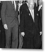 President Kennedy And Premier Khrushchev Metal Print