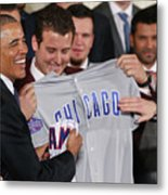 President Obama Welcomes World Series Metal Print