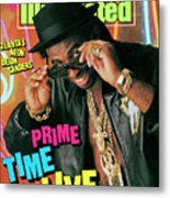 Prime Time Live Atlantas Neon Deion Sanders Sports Illustrated Cover Metal Print
