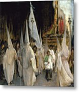 Procession Of The Seven Words. Artist Metal Print