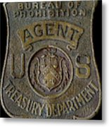 Prohibition Agent Badge Metal Print