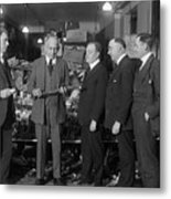 Prohibition Officials Conversing Metal Print
