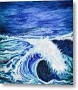 Promethea Ocean Triptych 1 Metal Print
