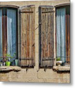 Provence Windows Metal Print
