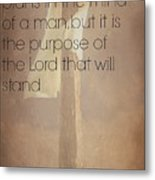 Proverbs 19 21 Metal Print