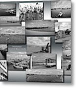 Provincetown Cape Cod Massachusetts Collage Bw 02 Metal Print