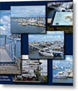 Provincetown Marina Cape Cod Massachusetts Collage Metal Print