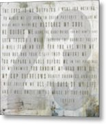 Psalm 23 Light Metal Print