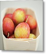 Punnet Of Victoria Plums Metal Print