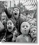Puppet Audience Metal Print