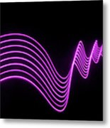Purple Abstract Lights Trails And Metal Print
