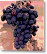 Purple Grape Bunches 18 Metal Print
